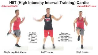 My jamesellisfit instructional video on hiit (high intensity interval training) cardio. 💪💪💪 👉each exercise should be done for 30 seconds as fast you can g...