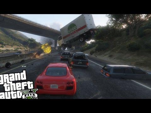 GTA 5 PC Mods - Speeding Cars Mod (Crazy Drivers!)