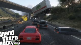 GTA 5 PC Mods - Speeding Cars Mod (Crazy Drivers!)