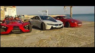 Drag race bmw i8 Vs Aston Martin. Carting. Развлекухи, короче