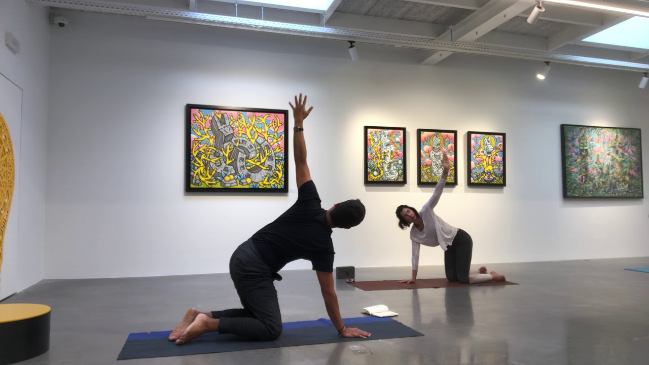 Vinyasa flow at an art gallery (75 mins)