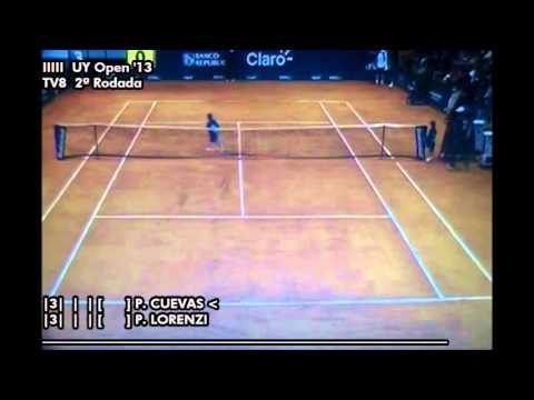 Pablo Cuevas vs Paolo Lorenzi - Uruguay Open 2013 (2ª Rod.) - Set 1 (Parte 1)