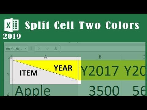 split cells in excel 2019