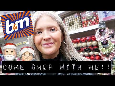 COME SHOP WITH ME IN B&M! | NEW IN CHRISTMAS 2019! | HARRIET MILLS