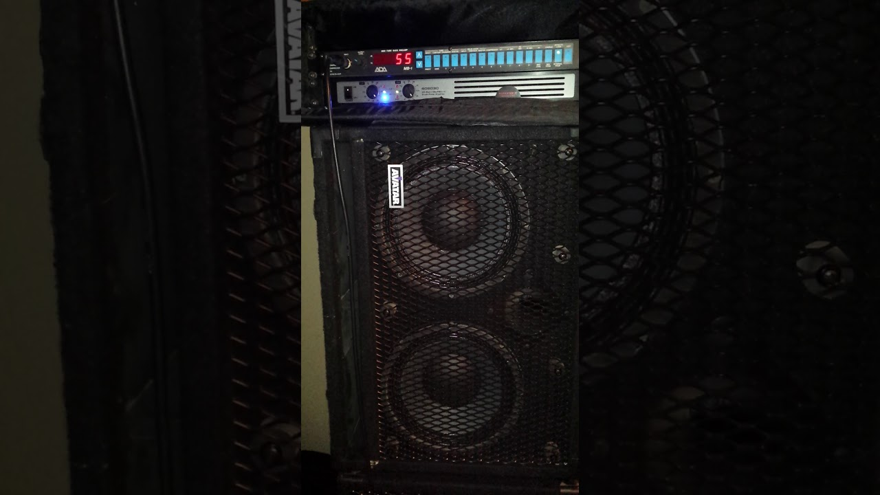 ADA MB-1 with Monoprice 1u Power Amplifier and Avatar 2x10 Bass ...