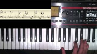 "How to play ""Electric Relaxation"" by A Tribe Called Quest - piano tutorial"