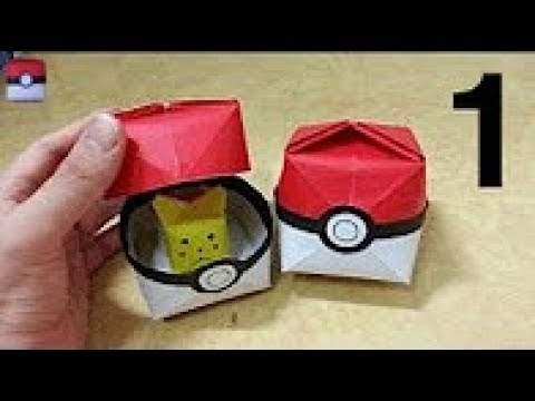 How to make a origami pokeball