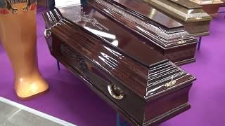 Производители гробов представили свою продукцию на выставке Некрополь 2018 в Москве, часть третья
