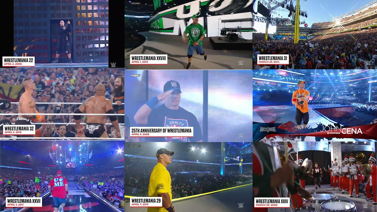 Download All Of John Cena Wrestlemania Entrances | John Cena Wrestlemania Returns
