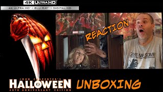 HALLOWEEN 2018 MICHAEL ATTACKS LAURIE CLIP REACTION: HALLOWEEN (1978) 4K BLU-RAY UNBOXING.