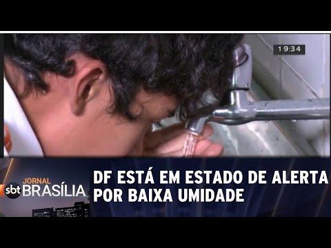 DF está em estado de alerta por baixa umidade | Jornal SBT Brasília 13/08/2018