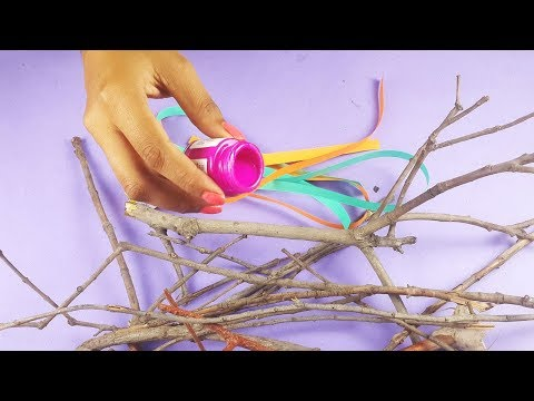 DIY Best Out of Waste Craft - Amazing Use of Dried Branches for Home Decoration - DIY Wall Hanging