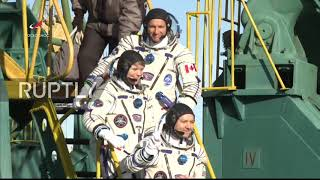 Kazakhstan: ISS Expedition 58/59 crew ready for take-off