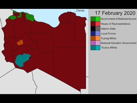 The Second Libyan Civil War: Every Day (May 2014 - Feb 2020)
