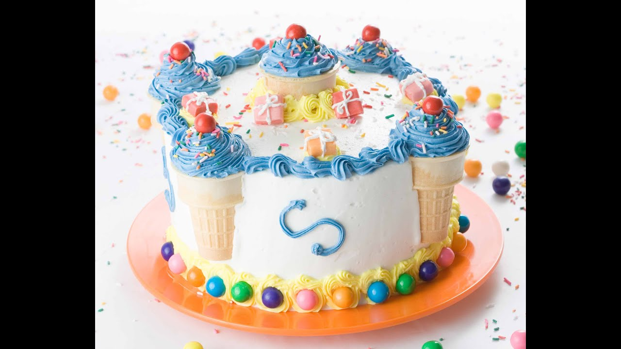 decorate a birthday cake in minutes youtube - Birthday Cake Designs Ideas