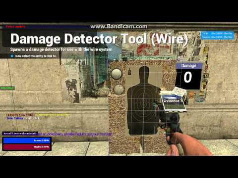 How to build a damage detecting target in Gmod 2013 [NO LONGER WORKS!]