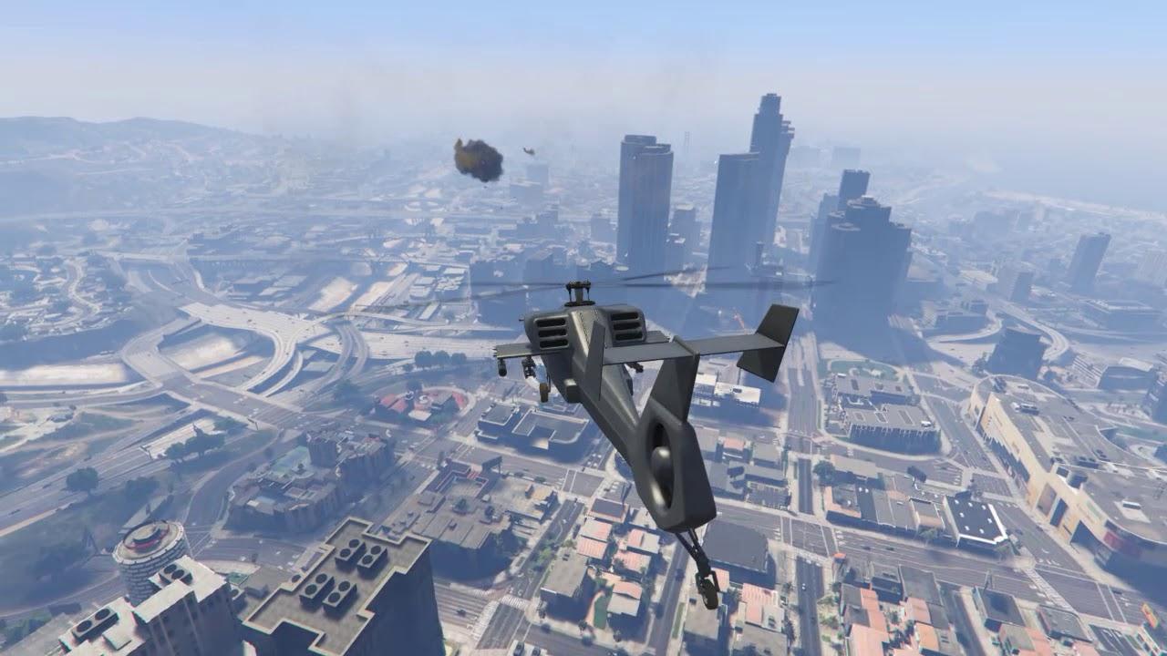 Elicottero 007 : Elicottero h1 hunter gta v youtube