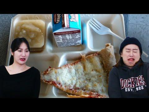 Koreans In Their 30s Try 'AMERICAN SCHOOL LUNCH' (vs Korean School Lunch)