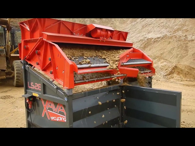 Schotter sieben Xava Rüttelsieb LS28 / Screening Gravel Vibrating Screen LS28