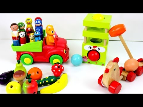 Thumbnail: Best Baby Learn Toys Colors For Preschool Children! Paw Patrol Farm Wooden Toys Animals Fruits Veg