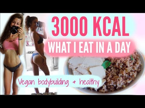 WHAT I EAT IN A DAY - 3000 KCAL VS GIRL - VEGAN & HEALTHY
