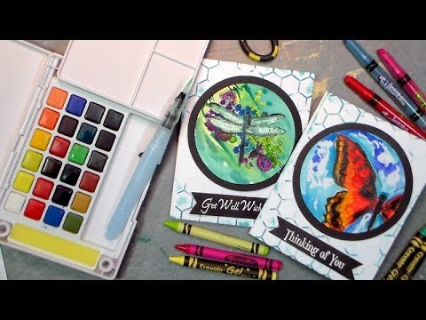 Crayon and watercolor greeting cards this is literally a hot craft crayon and watercolor greeting cards this is literally a hot craft m4hsunfo Image collections