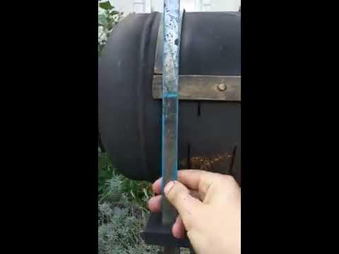 Самый простой мангал из газового баллона. Спустя 3 года пользования.