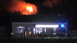 Uitslaande brand verwoest woning Kerkweg Vierpolders