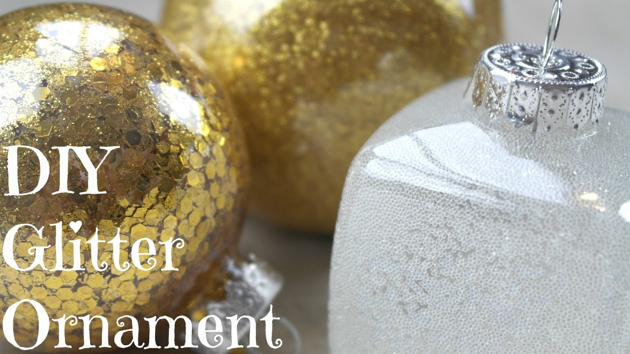 Diy easy glitter ornaments best tutorial youtube solutioingenieria Gallery