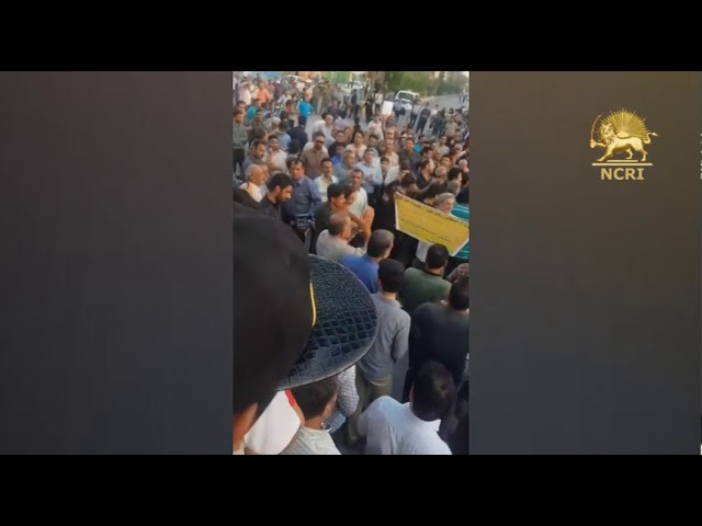 BORAZJAN, southern Iran, July 8, 2nd day of demonstrations & protests over severe water shortages