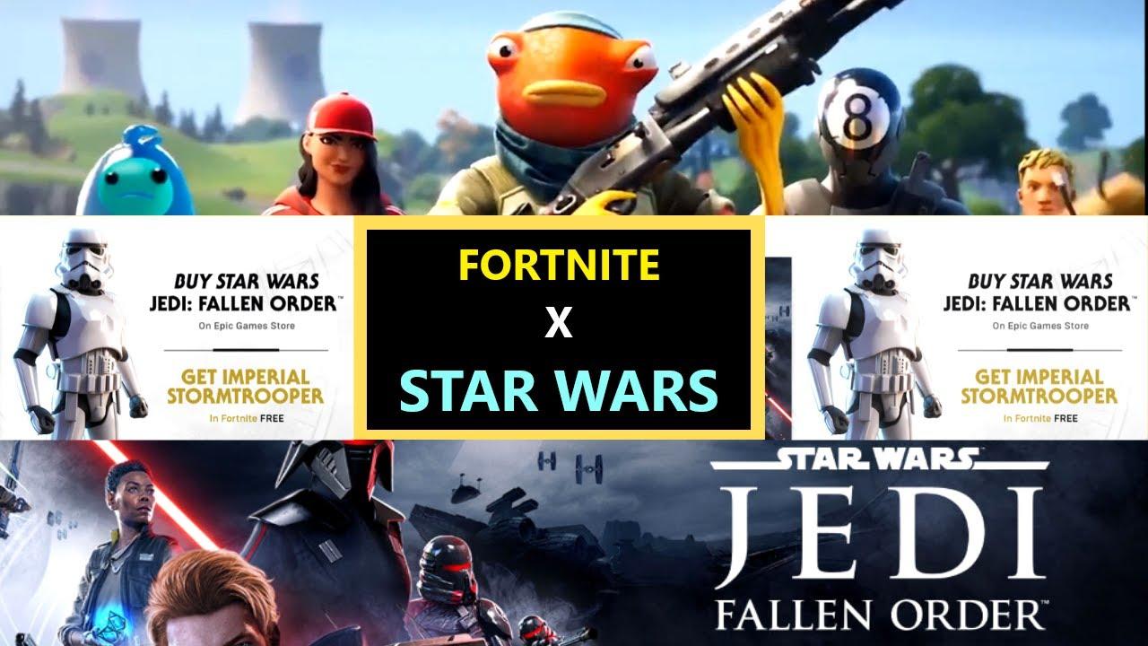 Fortnite X Star Wars Item Shop Stormtrooper Fortnite Skin Fortnite X Star Wars Trailer Details