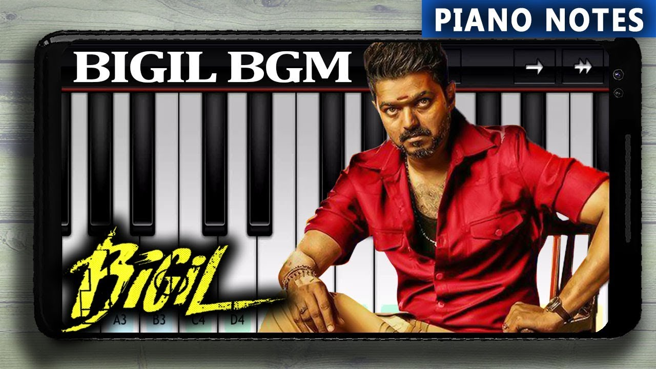 Bigil Rayappan Bgm Piano Tutorial With Notes Youtube