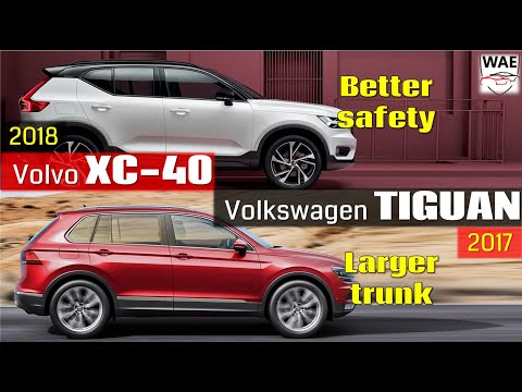 2018 Volvo XC40 vs 2017 Volkswagen Tiguan (technical comparison)
