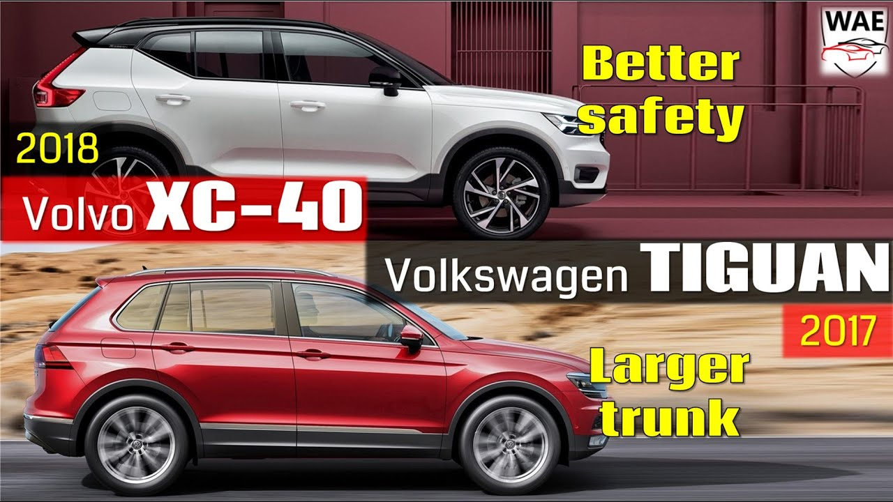 2018 Volvo XC40 vs 2017 Volkswagen Tiguan (technical comparison) - YouTube
