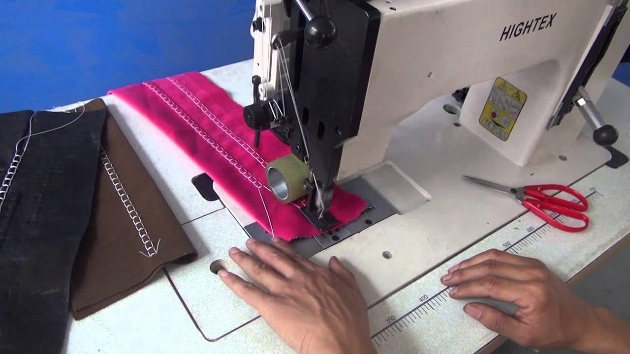 Maquina de coser costura decorativa para telas de