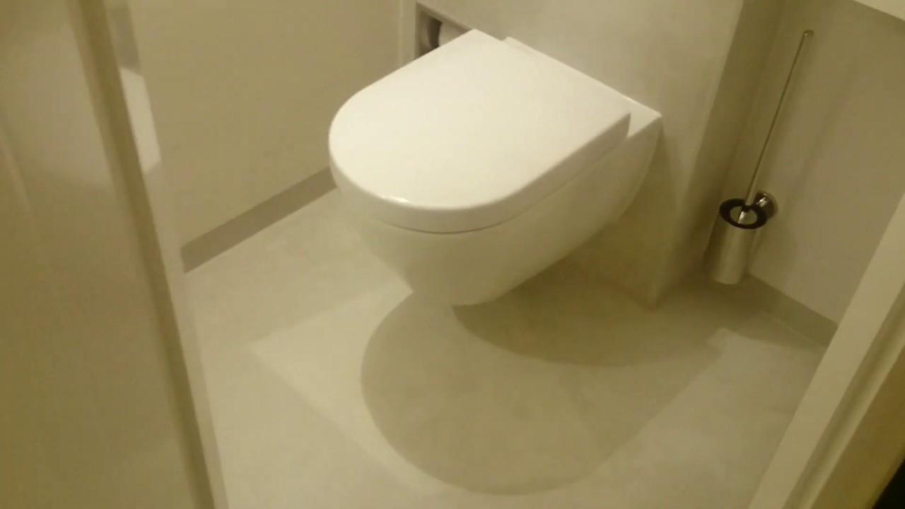 Toilet Zonder Voegen 1 20 X 1 20 Tegels Youtube