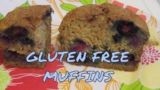 Banana, Blueberry & Applesauce Muffins ~ Gluten Free