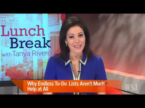 """Steve McClatchy on Wall Street Journal TV with Tanya Rivero     Stop Making """"Treadmill"""" To-Do Lists"""