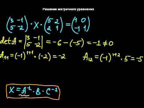 §29 Решение матричного уравнения