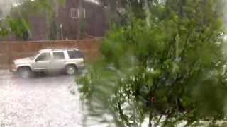 Hail storm in Airdrie, Alberta on July 6, 2013