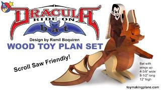 Wood Toy Plan - Dracula Ride-on Bat