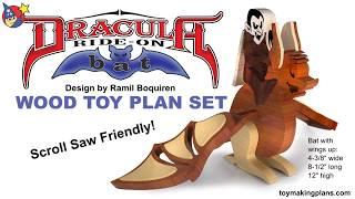 Wood Toy Plan - Dracula Ride-on Bat