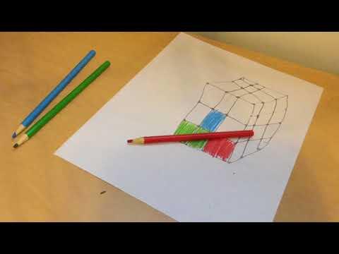 DIY Rubiks Cube Optical Illusion