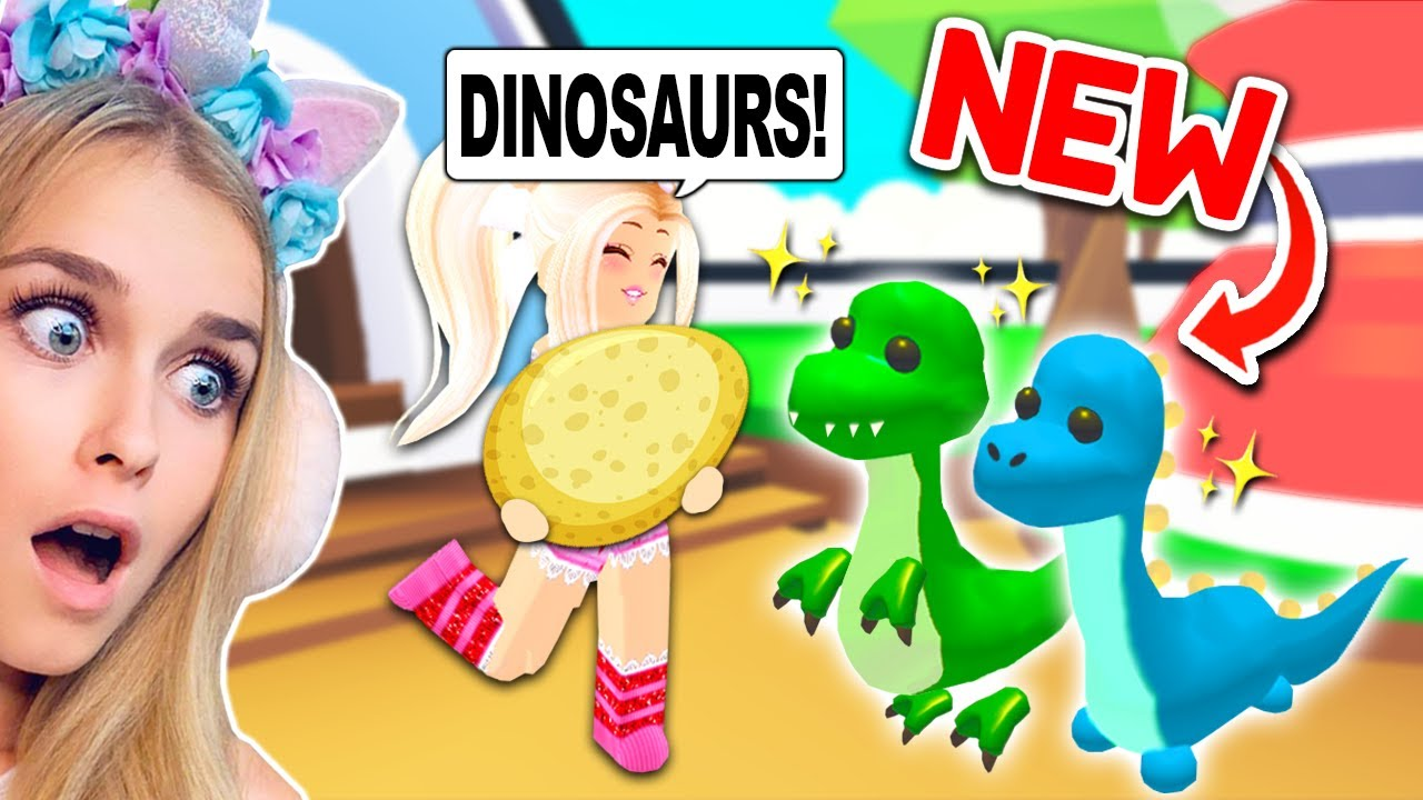 New Dinasaur Pets Coming To Adopt Me Roblox Youtube