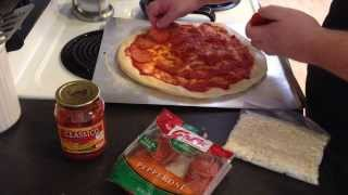 Homemade Chicago Style Cracker Thin Crust Pizza