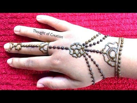Easy Jewellery Mehndi Design For Kids  Easy Mehndi Design For Beginners
