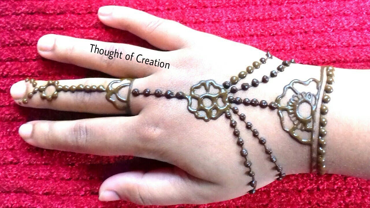 Easy Jewellery Mehndi Design for Kids |Easy Mehndi Design ...