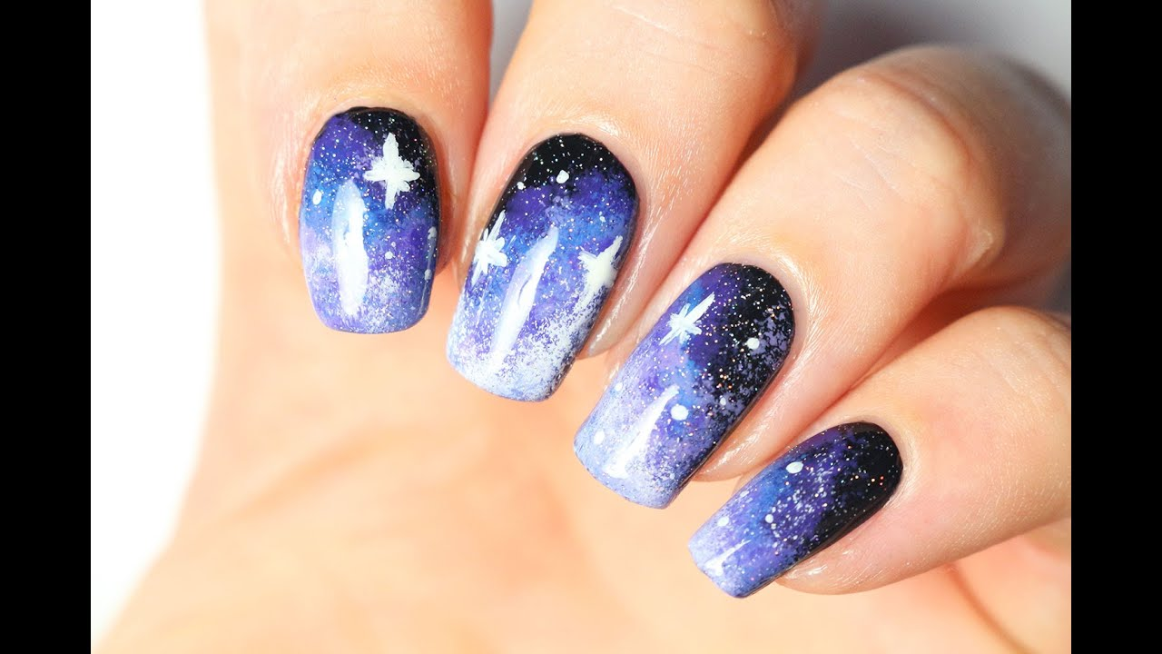 ✨ Nail art facile : le Galaxy nail art ✨ - YouTube