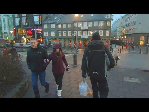 Walking Through the Streets of Reykjavik, Iceland