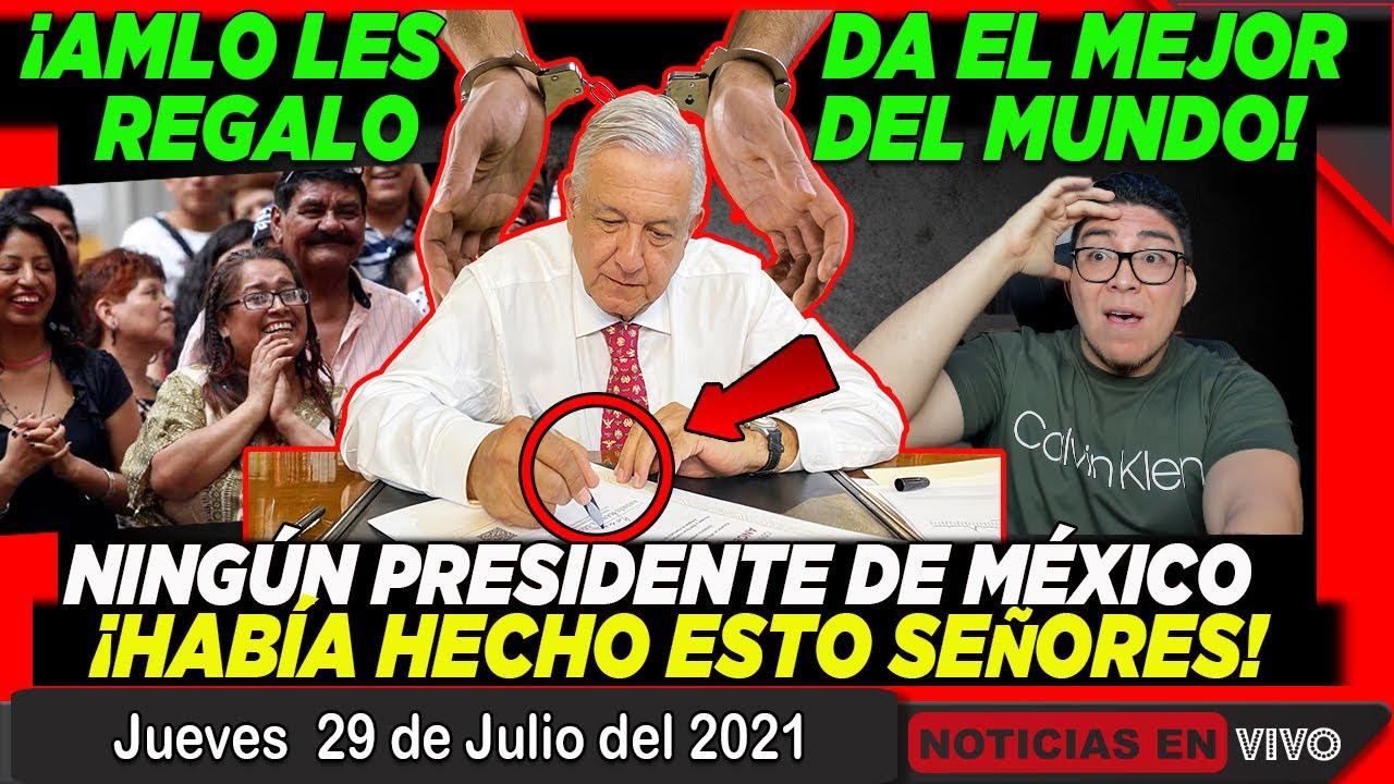 ¡GRAN NOTICIA! AMLO LES DA EL MEJOR REGALO DEL MUNDO A ESTOS MEXICANOS ¡NO TE LO PUEDES PERDER!
